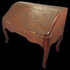 French Oak Desk as Presentation Box