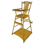 Tin Reversible High Chair Play Table for Doll House