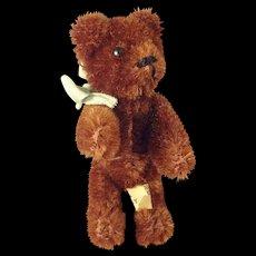 "Brown Schuco Bear 3 1/2"" Glass Eyes"
