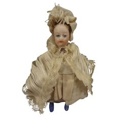 French All Bisque Lilliputien Lady Doll with Swivel Neck