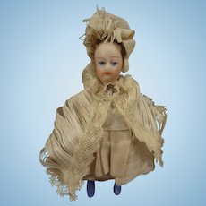 SALE French All Bisque Lilliputien Lady Doll with Swivel Neck
