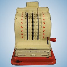 Tin Cash Register for German Shop