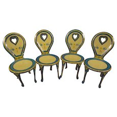 Set of J. Chien Tin Litho Doll Chairs
