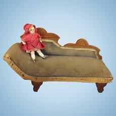 SALE  Eastlake Doll's Chaise Upholstered