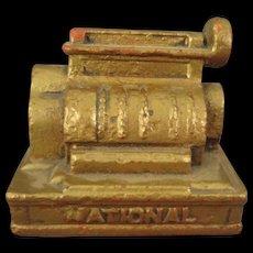 Miniature Cast Iron National Cash Register