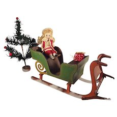 Outstanding Miniature Doll Sleigh from Germany