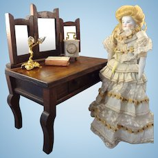 SALE  Doll's Vanity Dressing Table with Three Part Mirror