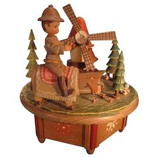 SALE  Swiss Music Box by Anri playing The Impossible Dream
