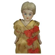 "5"" Doll House Doll with Beautiful Face and Blonde Wig"