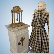"5 1/4"" Bisque Doll House Doll with Flat Shoes and Garters"