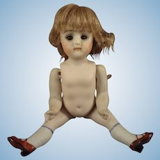 """SALE 5"""" All Bisque Kestner with Jointed Limbs and Sleep Eyes"""
