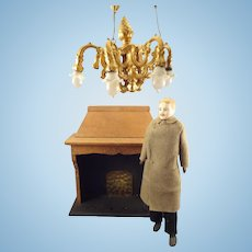 SALE  Ormolu Chandelier by Erhard & Sohne in Large Scale for Doll House