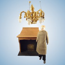 Ormolu Chandelier by Erhard & Sohne in Large Scale for Doll House