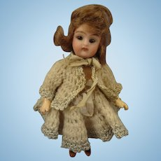 """5"""" Bisque Doll with Swivel Head and Sleep Eyes"""