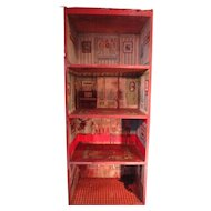 Rare Dunhams Cocoanut Doll House with Paper Lithography