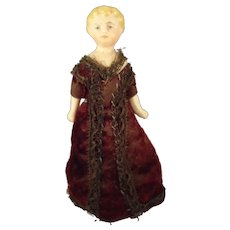 """5"""" Doll House Doll with Blonde Sculpted Hair"""