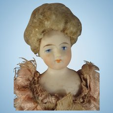 """Beautuful 7"""" Bisque Doll House Lady"""