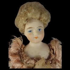 "Beautuful 7"" Bisque Doll House Lady"