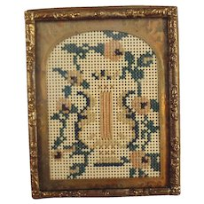 Miniature Doll House Picture Needlework