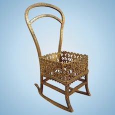 Miniature Bronze Rocking Chair