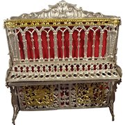 Soft Metal Filigree Piano for Doll House