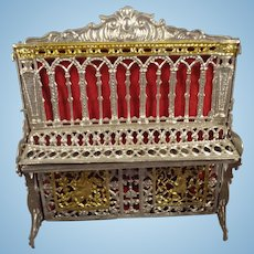 SALE  Soft Metal Filigree Piano for Doll House
