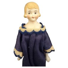 """6 1/2"""" Bisque Flapper Doll with Side Glancing Eyes"""