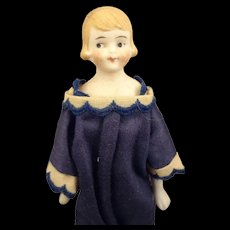 "6 1/2"" Bisque Flapper Doll with Side Glancing Eyes"