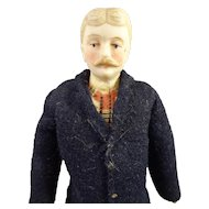 """6"""" Doll House Gentleman with Moustache"""