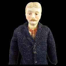 "6"" Doll House Gentleman with Moustache"