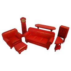 Red Strombecker Furniture for Doll House