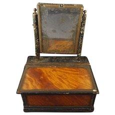 SALE Antique Miniature Dresser Box with Mirror