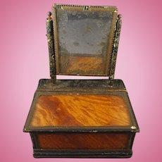 Antique Miniature Dresser Box with Mirror