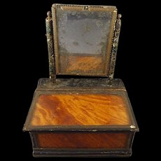 Antique Miniature Dresser Box with Mirror