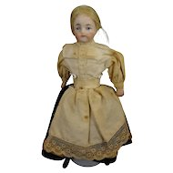 "SALE 5 1/2"" Bisque Doll House Lady with Blonde Wig"