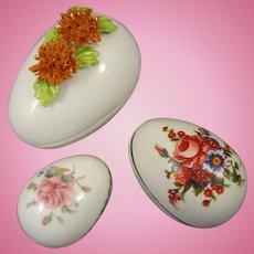 Porcelain Paint Decorated Egg Boxes