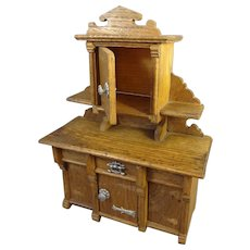 German Oak Dining Buffet for Doll House