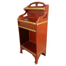 Red Gottschalk Cabinet or Book Case for Doll House