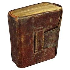 "Leather Bound Miniature Book ""Small Rain"""