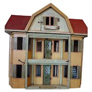 SALE Gottschalk Red Roof Doll House with Toilet