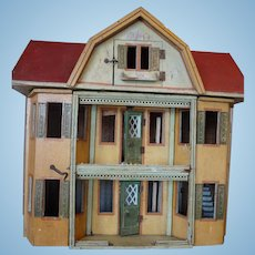 Gottschalk Red Roof Doll House with Toilet