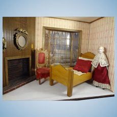 """Bisque Doll House Lady 4 3/4"""" tall"""