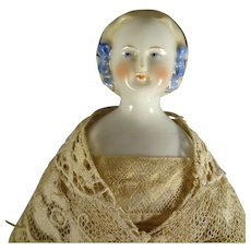 "11 1/2"" Porcelain Blonde Hair China with Snood"