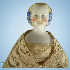 """11 1/2"""" Porcelain Blonde Hair China with Snood"""