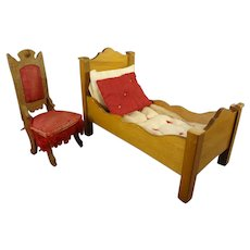 Doll House Bed and Chair