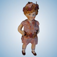 """4"""" All Bisque Side Glancing Doll"""