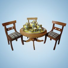 Doll House Table and Three Chairs