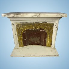 Doll House Marble Top Fireplace