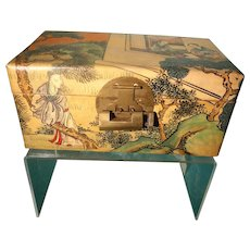 Chinoiserie Doll Trunk with Key