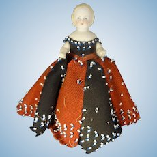 """6"""" All Bisque Doll as Pen Wipe Doll"""